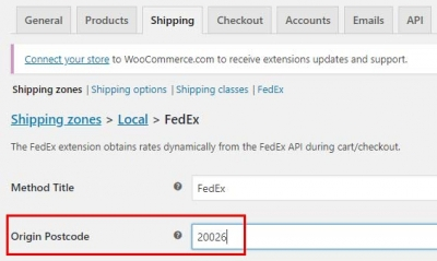 woocommerce show localpickup and fedex at same time