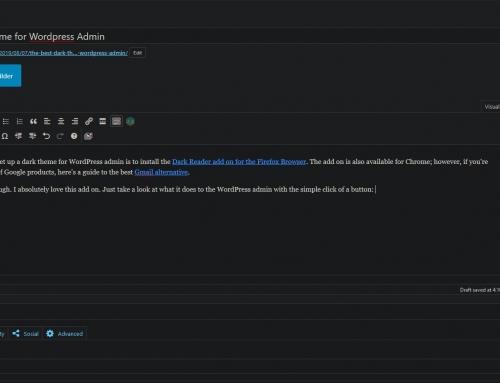 The Best Dark Theme for WordPress Admin